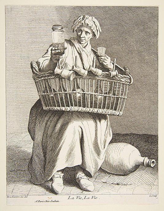 Brandy Seller, 18th century: