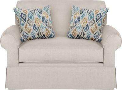 Provincetown Linen Sleeper Chair -Sleeper Chairs (Beige)
