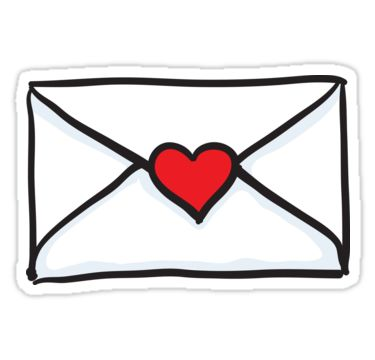 Love letter sticker Sticker Heart, cartoon and The o jays