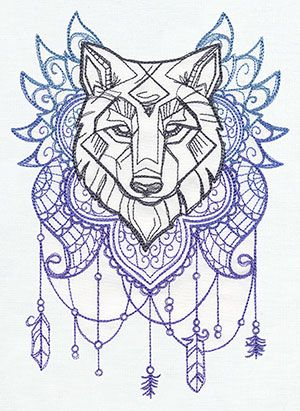 Anima - Wolf   Urban Threads: Unique and Awesome Embroidery Designs