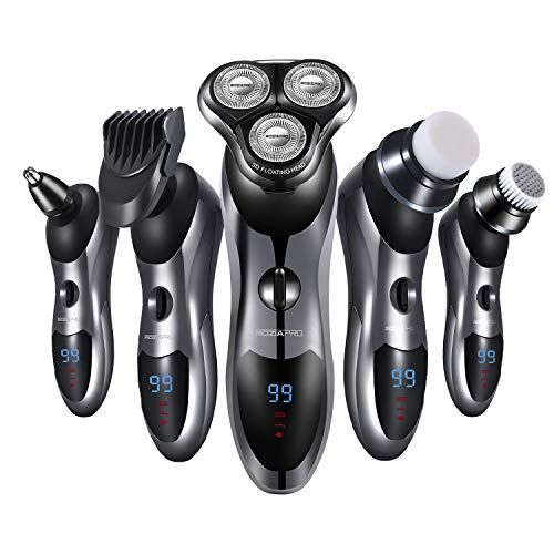 Electric Shaver Razor For Men 5 In 1 Rotary Shavers Beard Trimmer Nose Hair Trimmer Wet And Dry Elect In 2020 Best Electric Razor Electric Shaver Men Nose Hair Trimmer