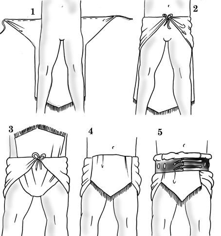 Les vêtements de l'antiquité
