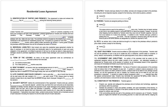 Lease Agreement Template business templates Pinterest Template - business lease agreement