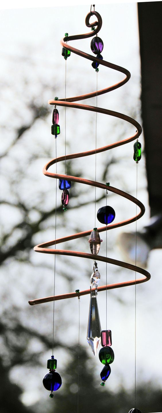 First attempt - copper tubing suncatcher... I have a lot to learn!!