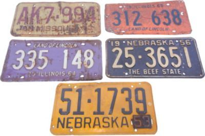 What is it about old license plates?