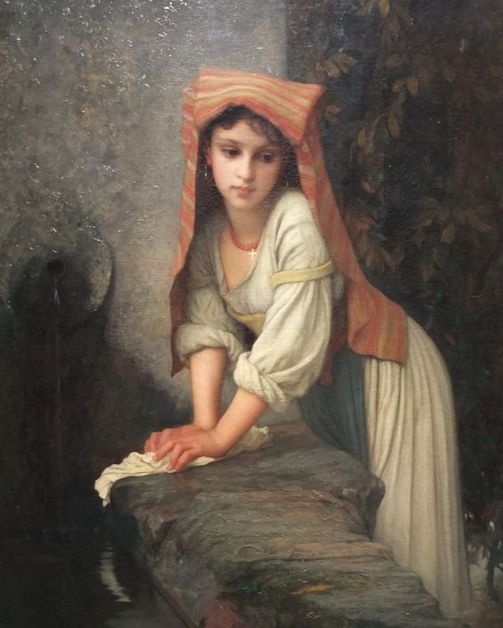 La Lavandera, by Ernest Hébert