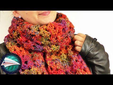 Fall Scarf Diy Crocheting Super Fluffy Scarf Fall Colors Net Pattern Youtube Diy Scarf Crochet Crochet Scarves