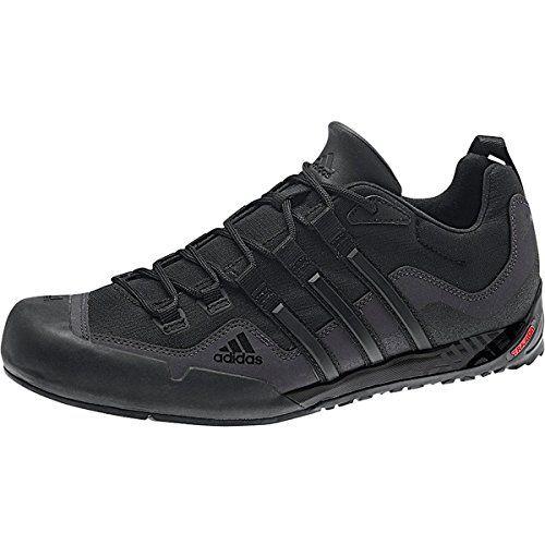 Adidas Outdoor Terrex Swift Solo Approach Shoe Men S Black Black Lead 9 5 Adidas Mens Sneakers Sneakers Shoes Mens Adidas Sneakers Mens Best Hiking Shoes
