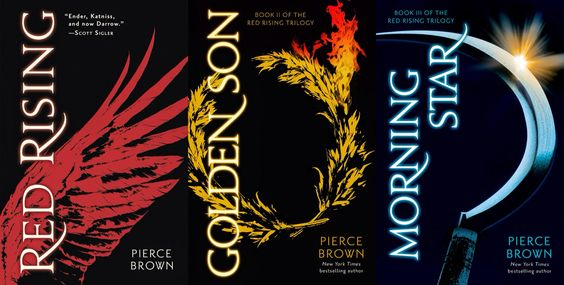 Can't say enough how much I loved these. Red Rising Trilogy by Pierce Brown. Red Rising, Golden Son and Morning Star