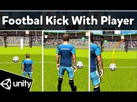 Football Penalty Kick With Curve And Player Animations Unity3d Penalty Kick Football Kicks