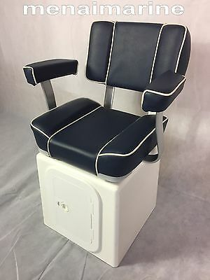 Captains Boat Seat Grp Seat Storage Box With Solid Base 360 Swivel And Hatch Ebay Boat Seats Pontoon Boat Seats Fishing Boat Seats