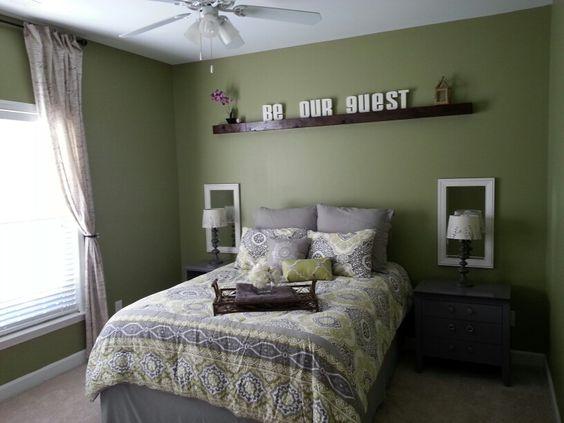 Guest Room Green Paint Color Is Valspar Grasslands