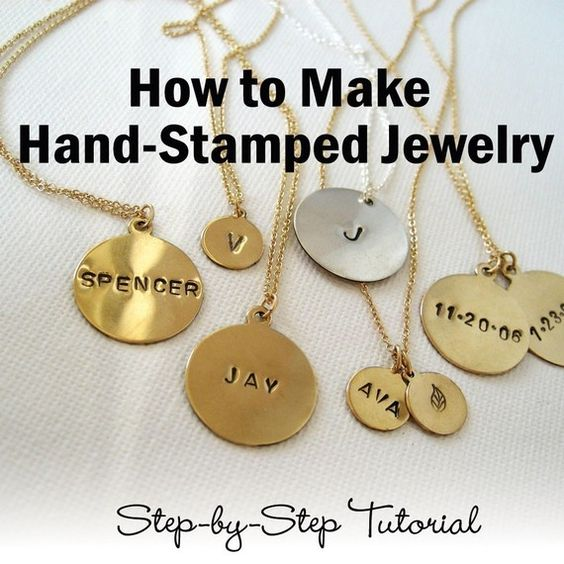 How to Make Hand Stamped Jewelry Ebook Tutorial by uptownstudio