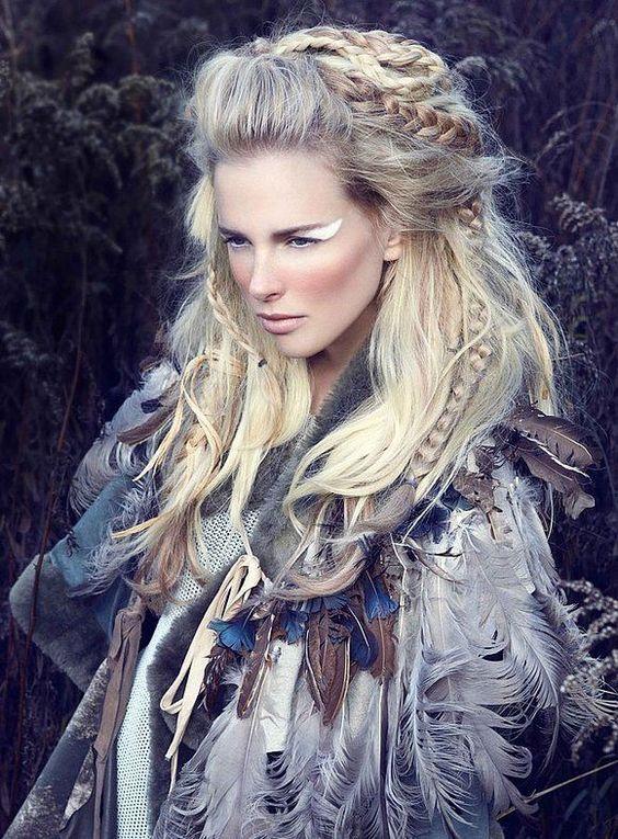 Pin von Rika auf Concept photography  Wikinger Frisuren Viking frisur und Fasching frisur