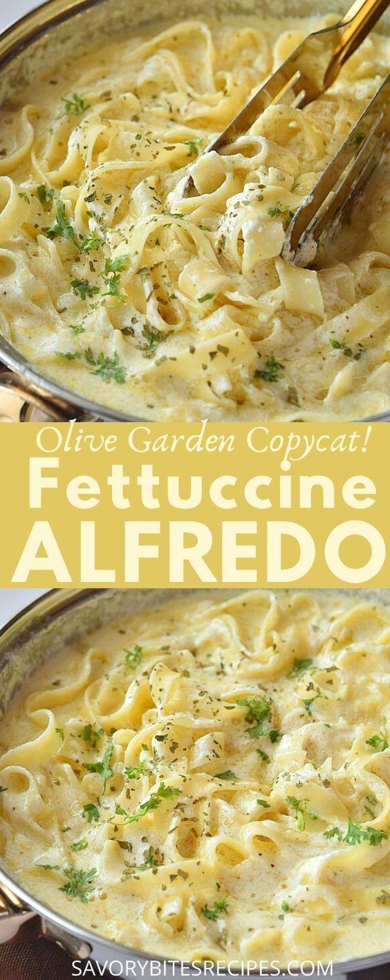 Olive Garden Copycat - Fettuccine Alfredo
