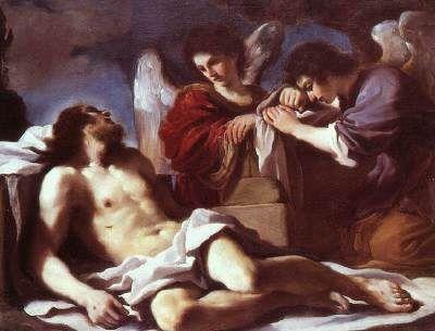 /Barocco_It_Angeli piangenti sul Cristo morto (1618, Londra, National Gallery) Guercino