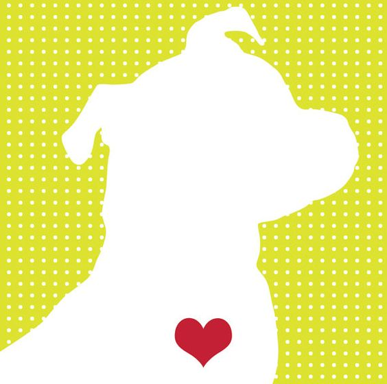 Pitbull Terrier Silhouette Personalized 8x10 Dog by DogLoveShoppe