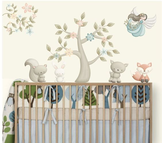 Wall Decal Kit (Kit Adesivos - 39D31A) - To decorate baby's nursery / As Corista