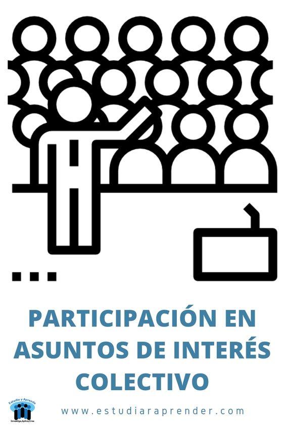 participación en asuntos de interés colectivo
