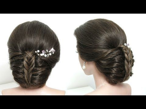 Simple Braided Hairstyle Easy Updo For Party Hair Tutorial Youtube Easy Hairstyles Prom Hairstyles For Long Hair Bun Hairstyles For Long Hair