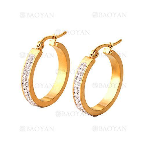 argollas 24 mm de estilo brillante en acero dorado inoxidable -SSEGG054415