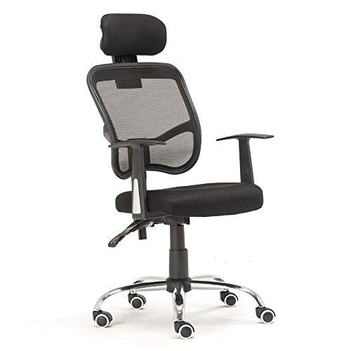 Flytianmy Human Engineering Breathable Mesh Back Five Star Feet Office Chair For Home Use Black Swivel Office Chair Black Office Chair Chair