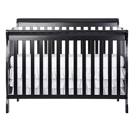 Dream On Me Ashton 5 In 1 Convertible Crib Black Baby Cribs Convertible Baby Mattress Cribs