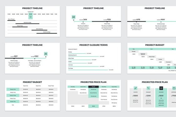 Project Timeline - Updated V4 - Presentations PITCH Pinterest - project timeline
