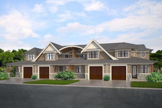 Fourplex townhouse house plan outside home decor for Building a fourplex