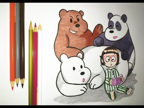 رسم الدببة الثلاثة باندا شهاب قطبي Drawing We Bare Bears Youtube We Bare Bears Drawings Bare Bears