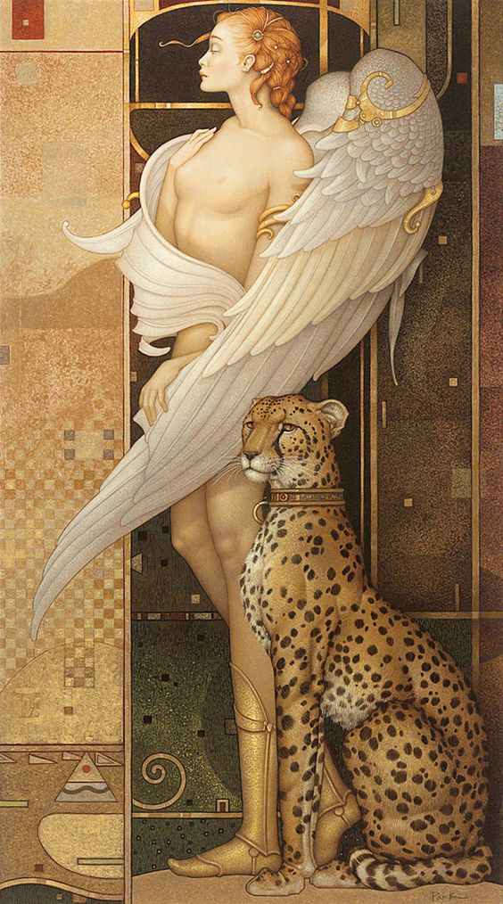 'Gold Angel' by Michael Parkes.:
