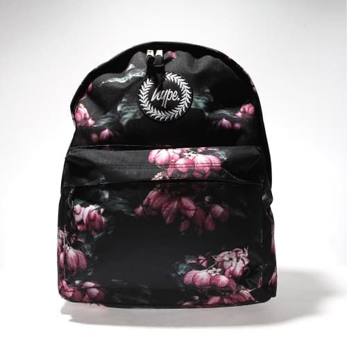 Silver Holographic Mix Backpack Hype Pink