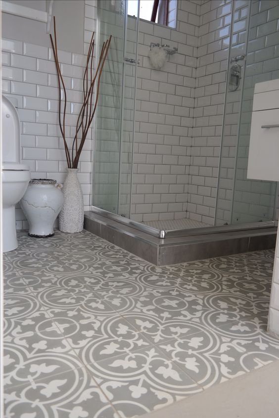 Beautiful Bathroom Using Hadeda Encaustic Cement Tiles