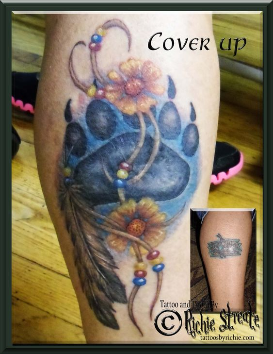 Indian bear paw tattoo cover up tattoo nightmares cover for Is tattoo nightmares still on