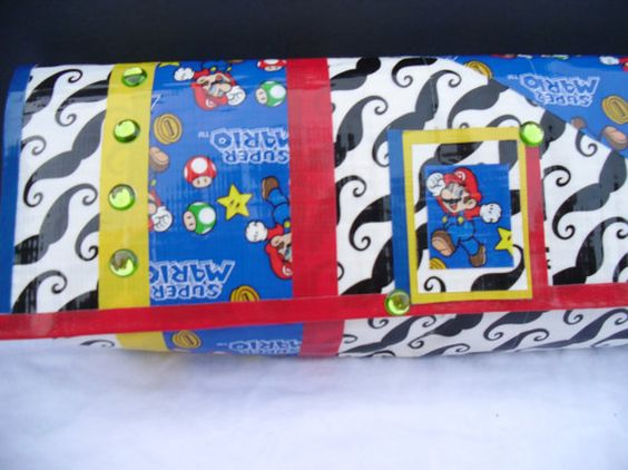 Super Mario Brothers and Mustache Duct Tape by AimeeCostello. , via Etsy.
