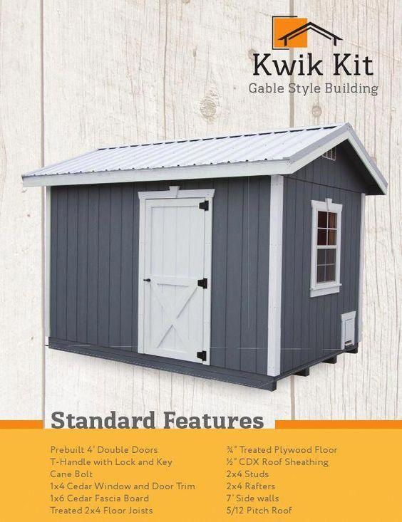 The Weaver Barns Team Is Proud To Offer Our New Kwik Kit Diy Shed Our Builders Have Put Together An Easy High Quality Diy Shed K Shed Diy Shed Kits Diy Shed