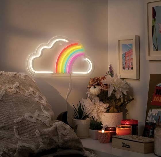Rainbow Led Wall Light West Arrow Google Shopping In 2020 Girls Room Wall Decor Rainbow Room Kids Rainbow Room