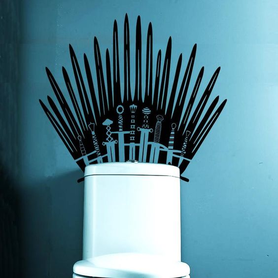 Game of Thrones Iron Throne Toilet Decal