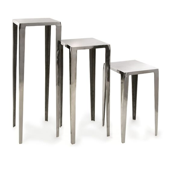 Baldwin Aluminum Tables, Set of 3
