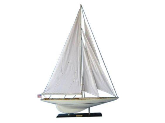 "Wooden Rainbow Limited Edition Model Sailboat 50"", Jurji Row"