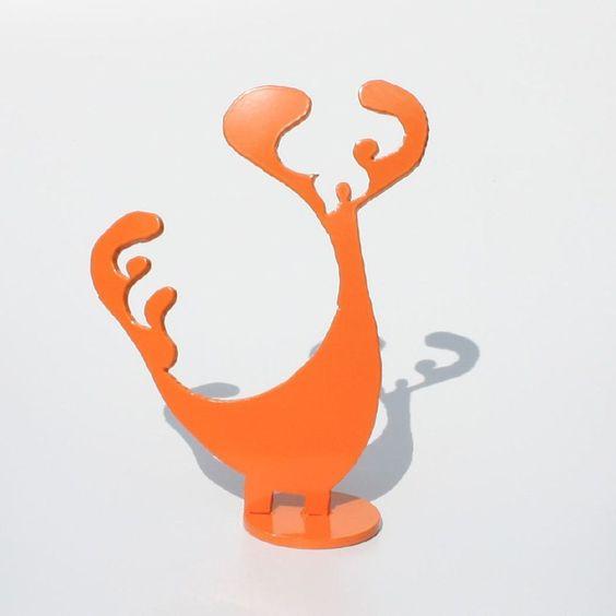 Fire Imp Sculpture, Orange No. 28