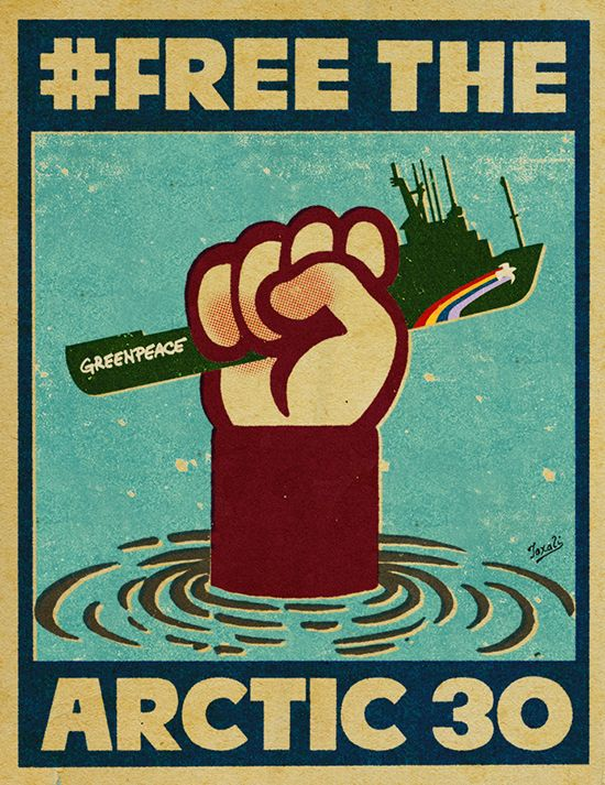 FREE THE ARCTIC 30 | GREENPEACE | © GARY TAXALI