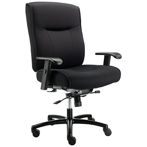 Big And Tall Office Chair With Arms Fabric Black Lot Of 1 Office Chair Tall Office Chairs Oversized Chair Living Room