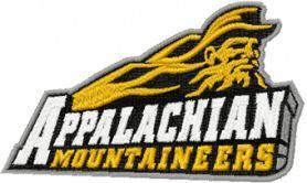 Appalachian state mountaineers logo machine embroidery