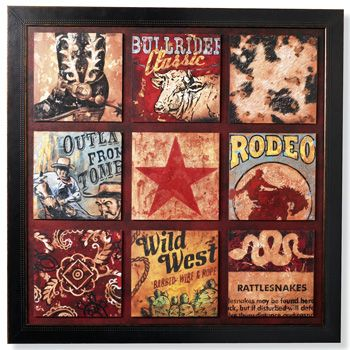 Cowboy Collage Print