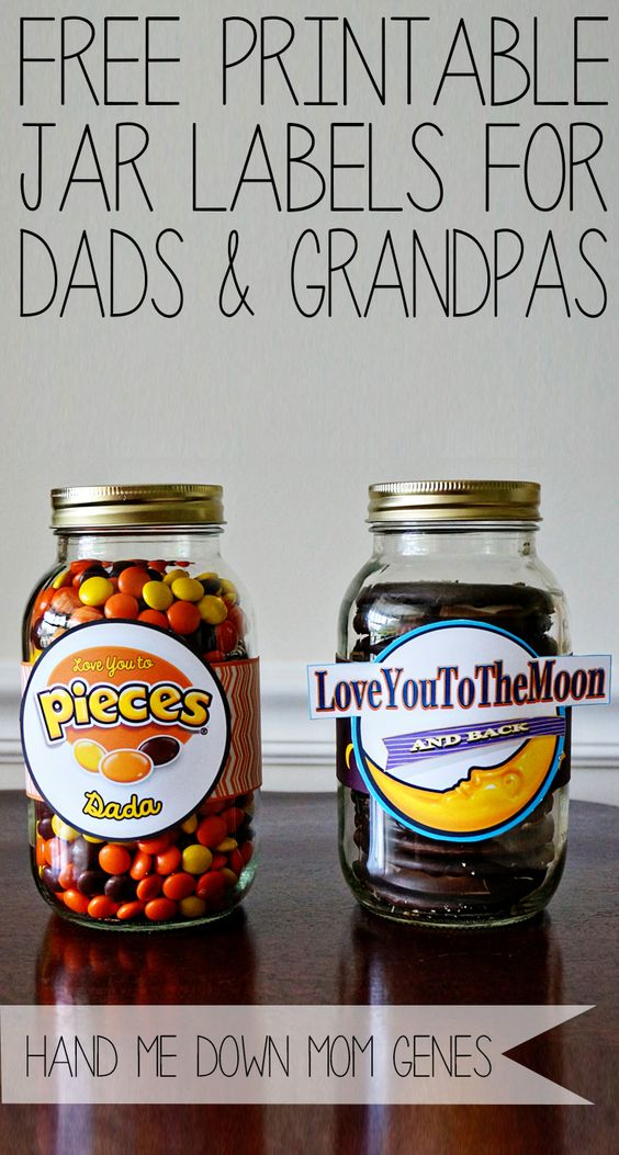 Hand Me Down Mom Genes: Father's Day Candy Jar Label Printables