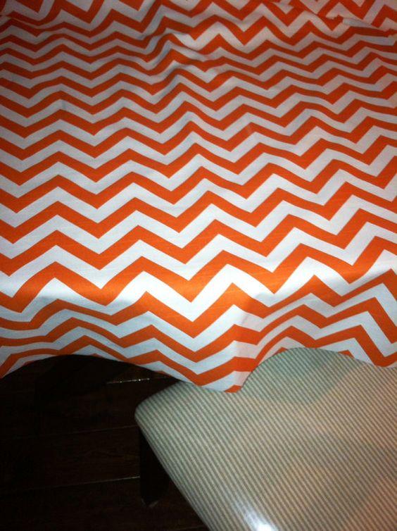 SALE orange and White Chevron Table Cloth by EllaBellaFabric, $38.00