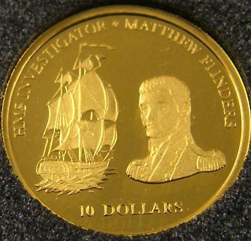 Proof Fiji Gold Coin 410 2002 Mathew Flinders Co 703 Gold Coin Fiji Gold Coin Goldcoins Gold Bullion Bars Gold Investments Gold Money
