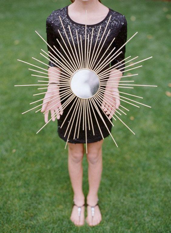 How to make DIY sunburst mirrors