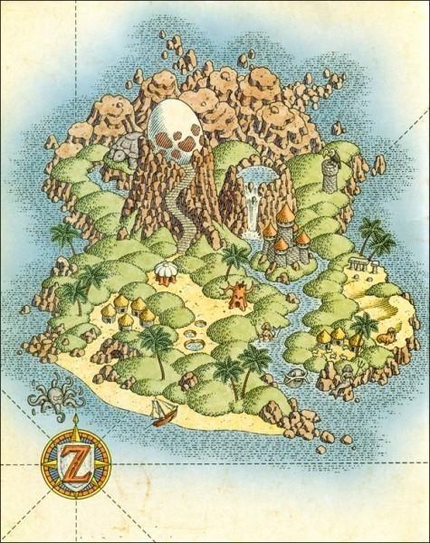 Tloz Linksawakening Concept Art World Map More Info On
